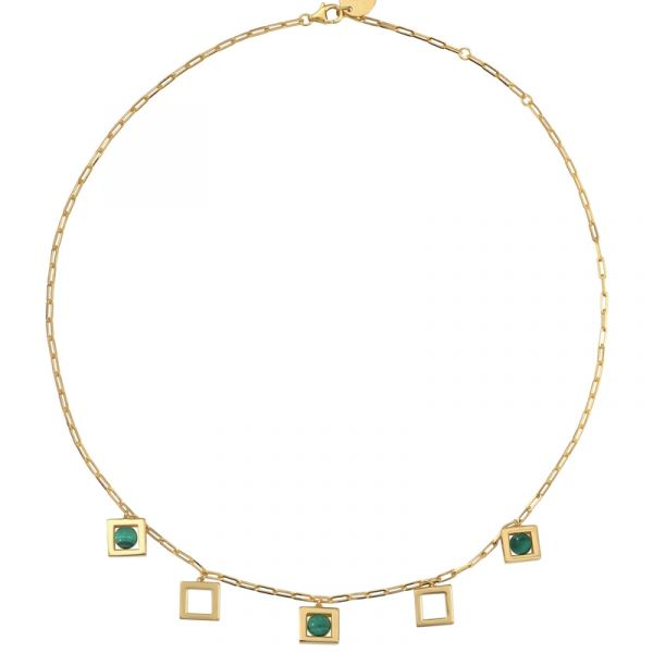 Collier Plastron Argenté The Nest